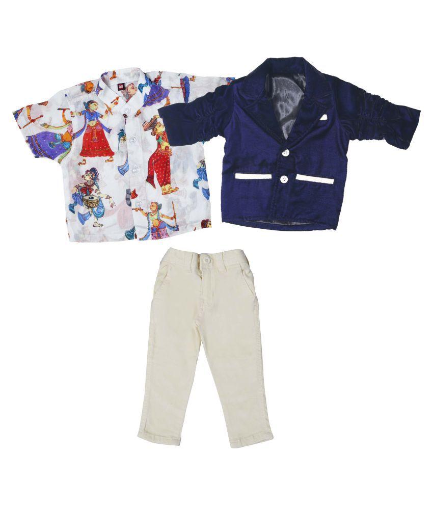Bad Boys Ethnic Print Shirt with Blazer & Bottom