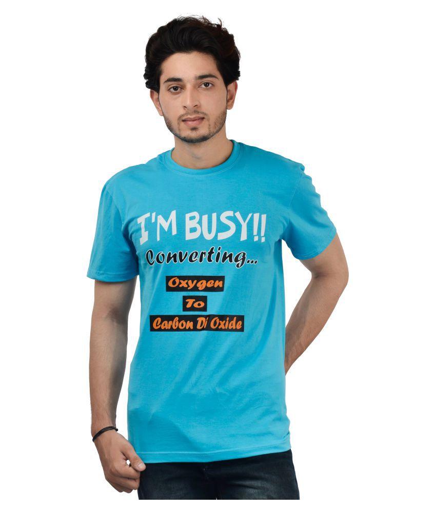 Style Parinde Blue Round T-Shirt