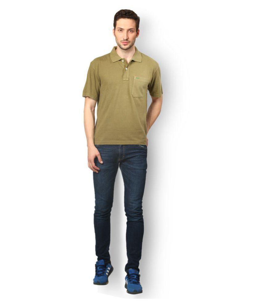 UV & W Green Cotton Polo T-Shirt