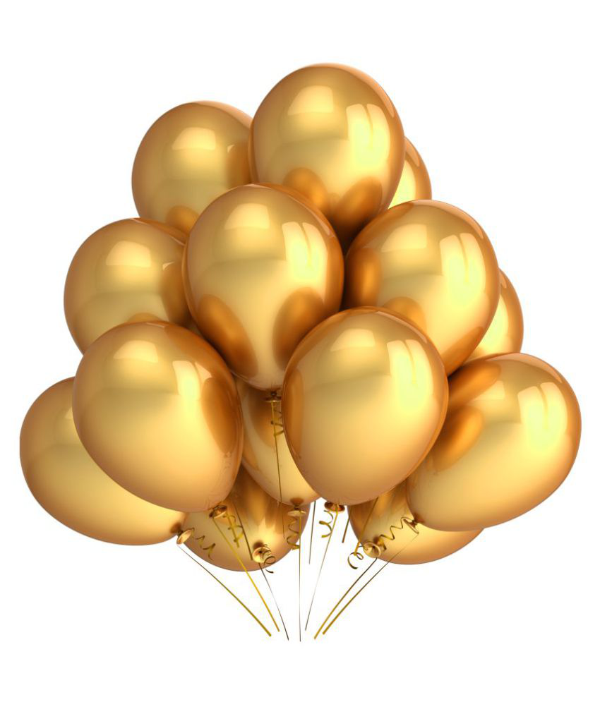 DHS Event Collection Metallic Golden Balloon Pack of 15 Buy DHS