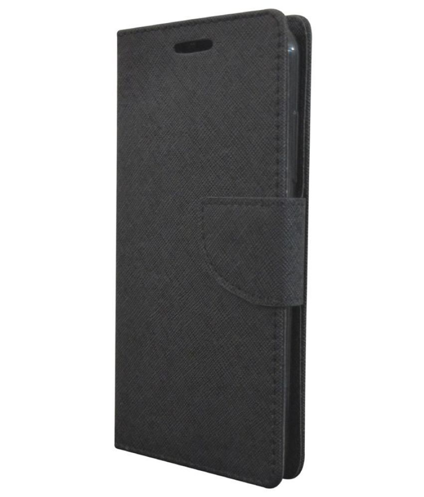 Lenovo A6010 Plus Flip Cover by Rdcase - Black