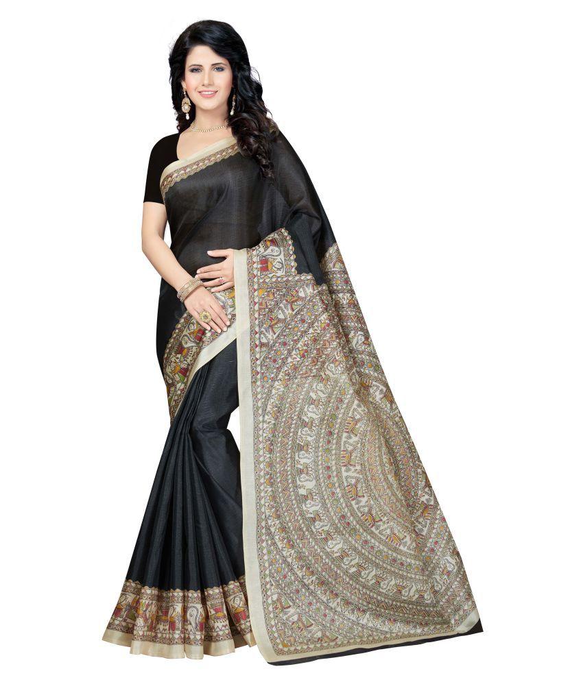 Rani Saahiba Black Art Silk Saree