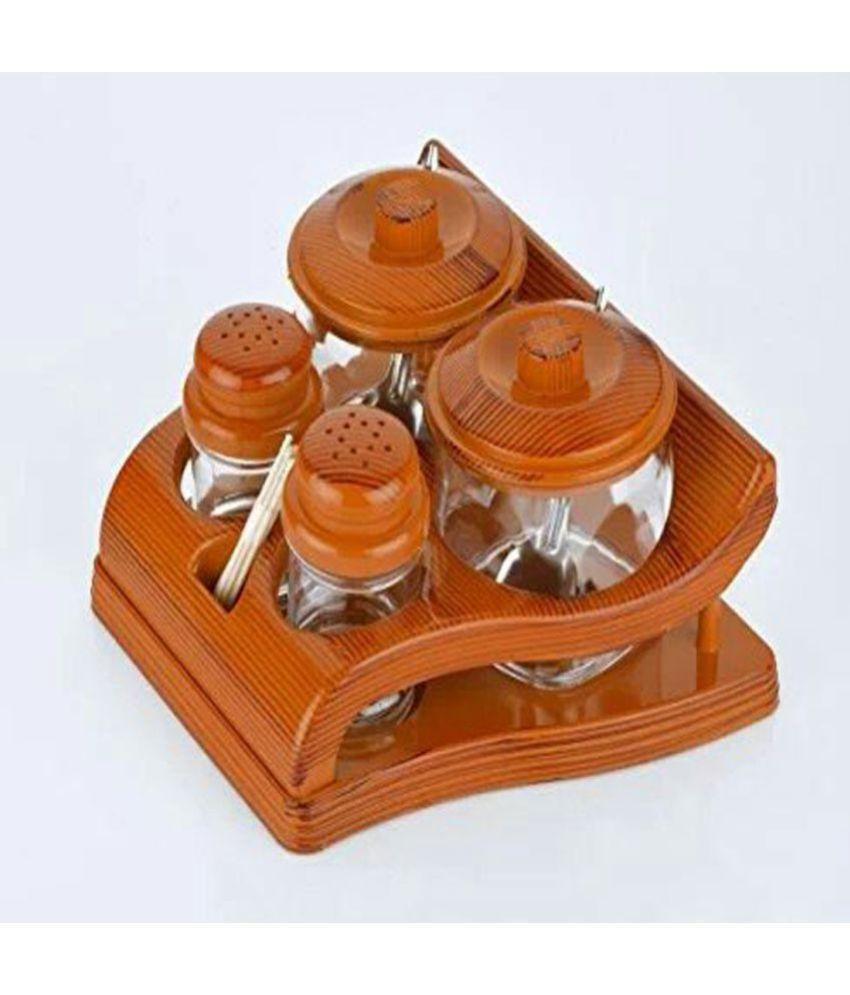 Jeeya Plastic Spice Rack Brown - Pack of 1