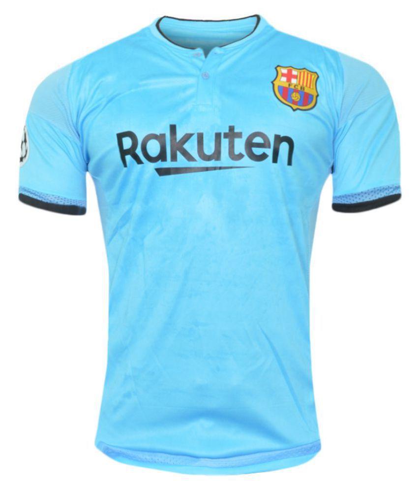 Barcelona Sky Blue Polyester Jersey
