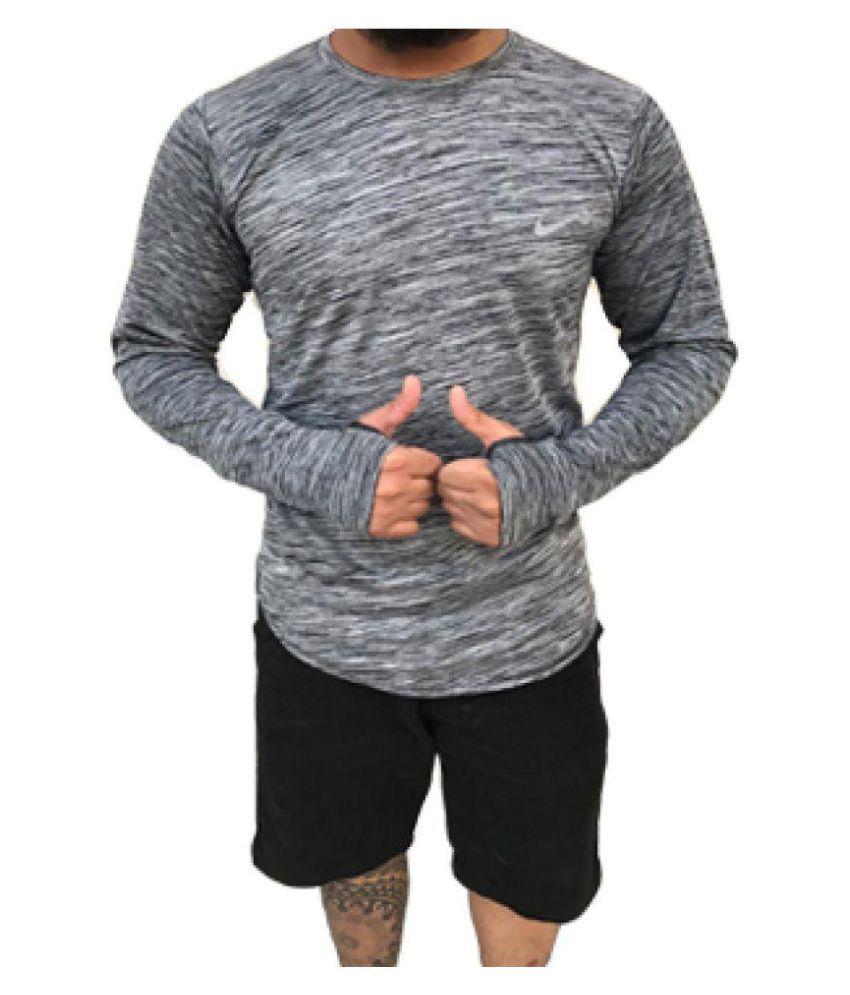 GS RETAILS Grey Round T-Shirt
