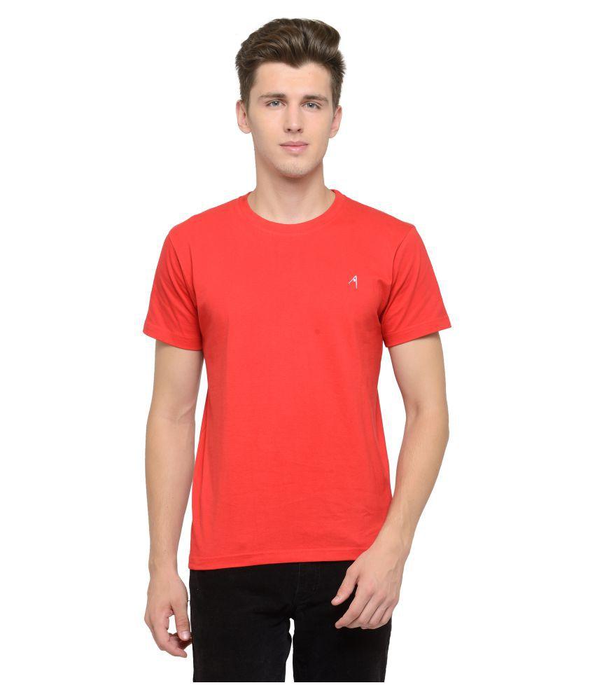 Attabouy Red Round T-Shirt