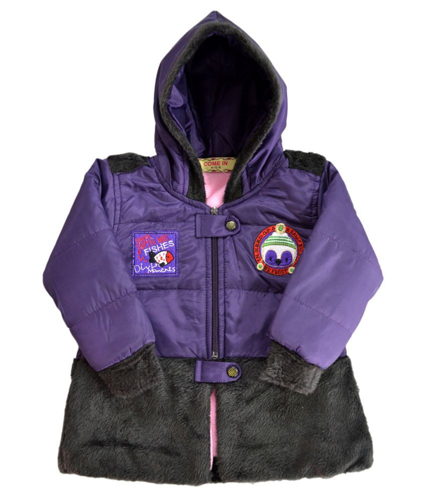 Come In Kids Full Sleeve Solid Girls Jacket