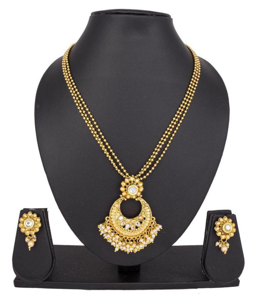 Pankh Gold Platted Necklace Set