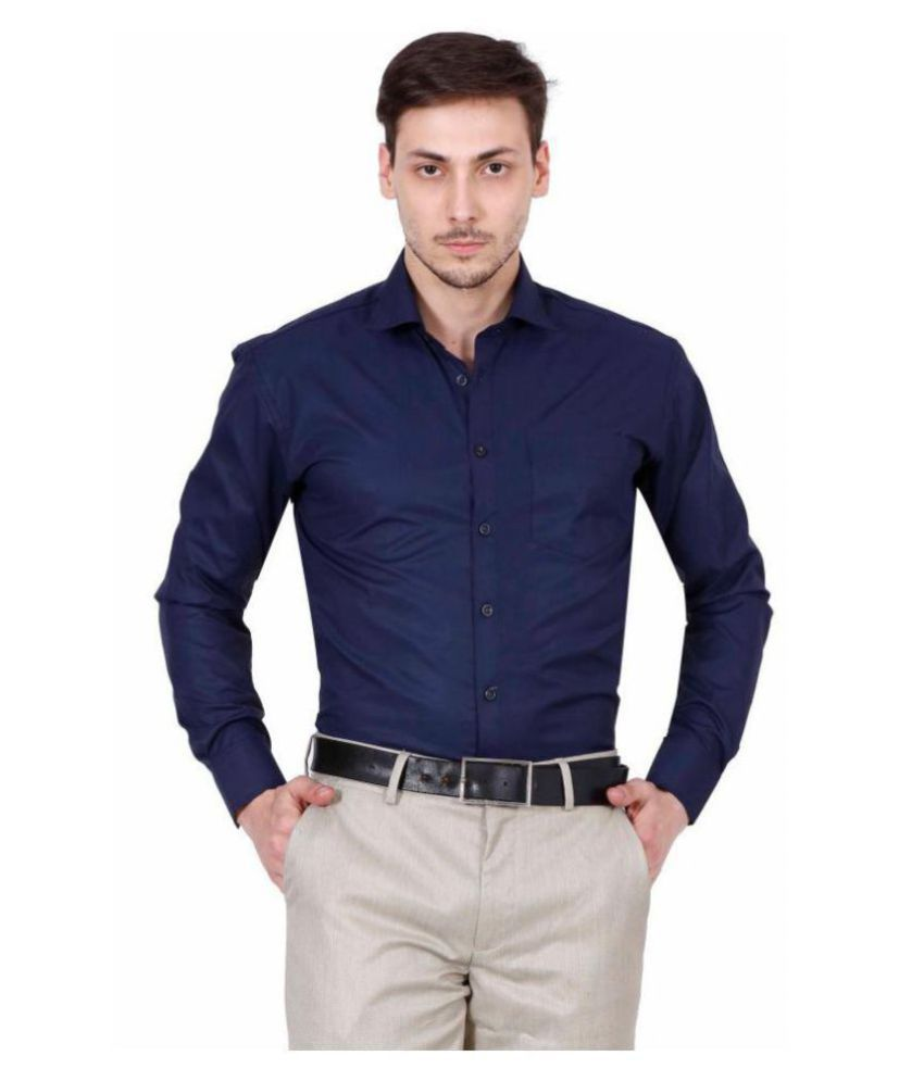 SUHANA Blue Formal Regular Fit Shirt