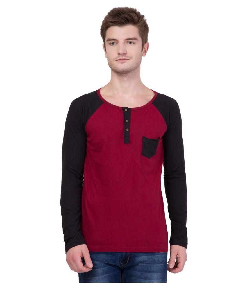 AERO Maroon Henley T-Shirt