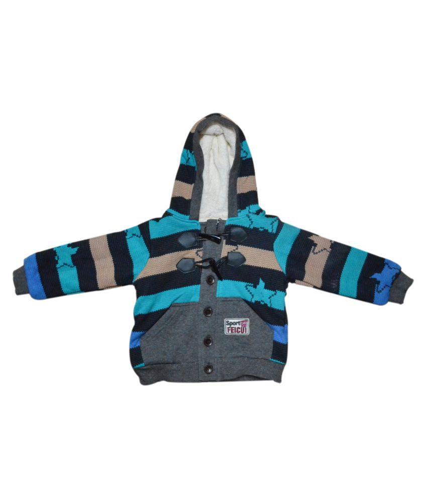 Finery Self Design Boy's & Girl's Winter Sweatshirt