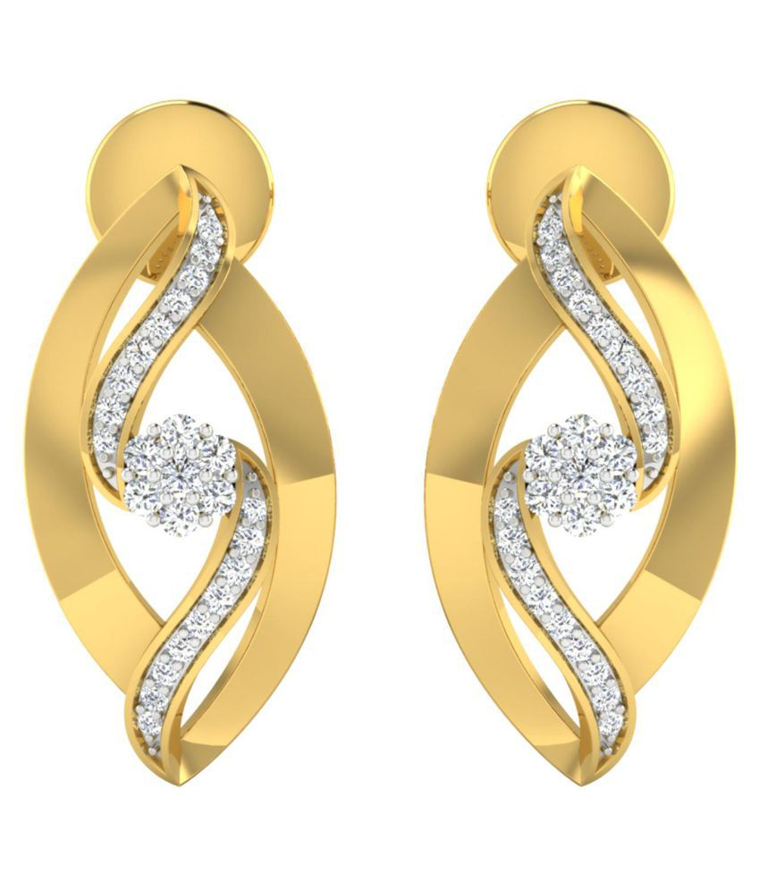 Gili 18k BIS Hallmarked Gold Diamond Studs