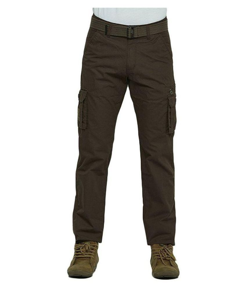 Plain Cargo Pants for Men with Descent look