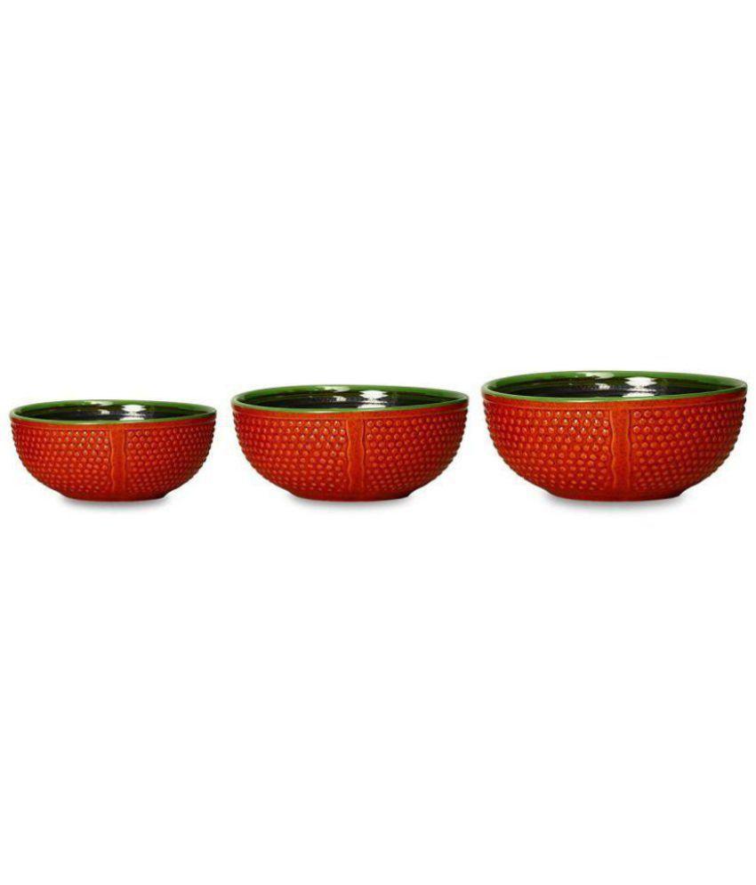 Caffeine 3 Pcs Ceramic Dessert Bowl L-1750, S-1250, M-750 ml