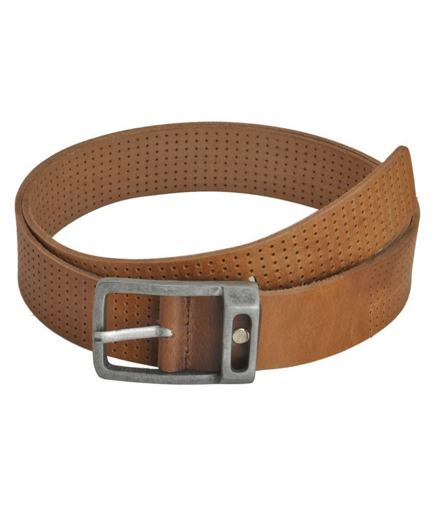 Picco Massimo Tan Leather Casual Belts