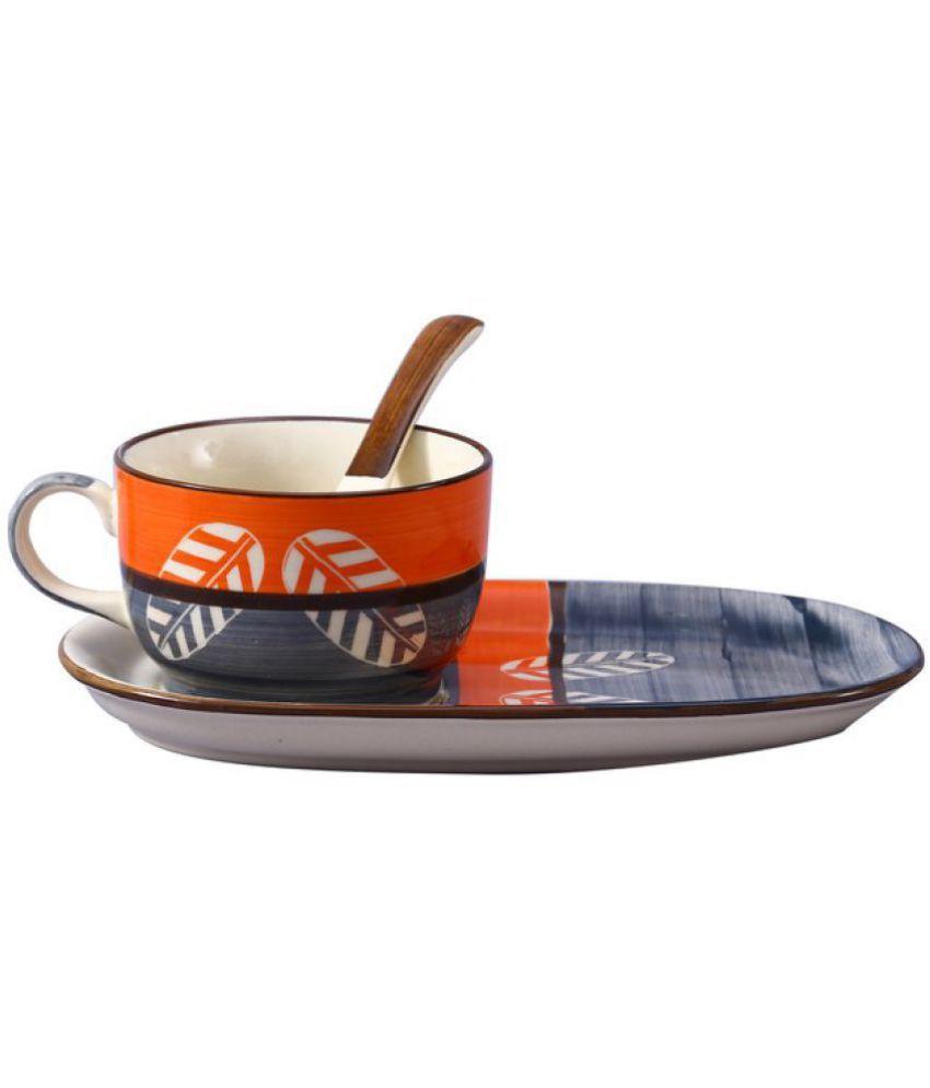 Caffeine 3 Pcs Ceramic Soup Set 300 ml