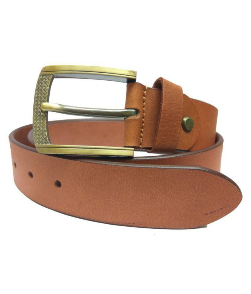 Dude Chase Tan Leather Combo Belts