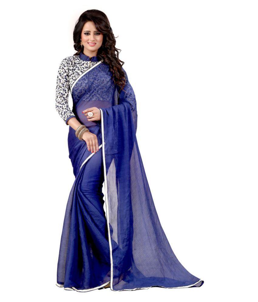 Krishna Emporia Multicoloured Georgette Saree
