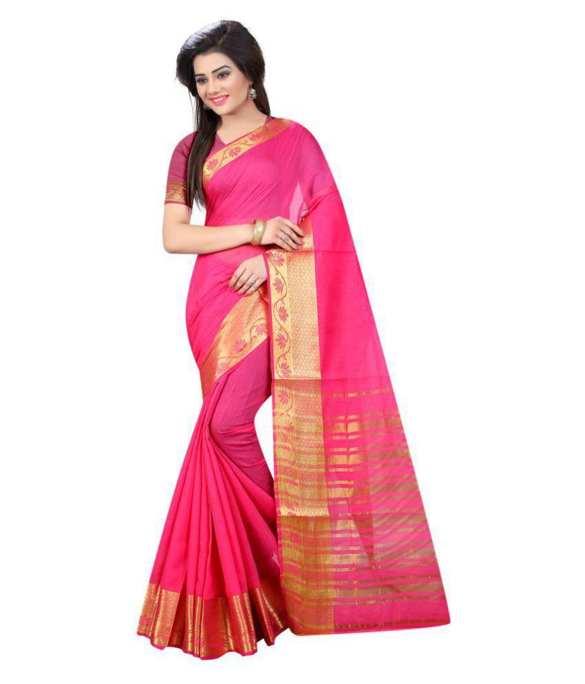 Laxmipati Fashion Pink Jacquard Saree