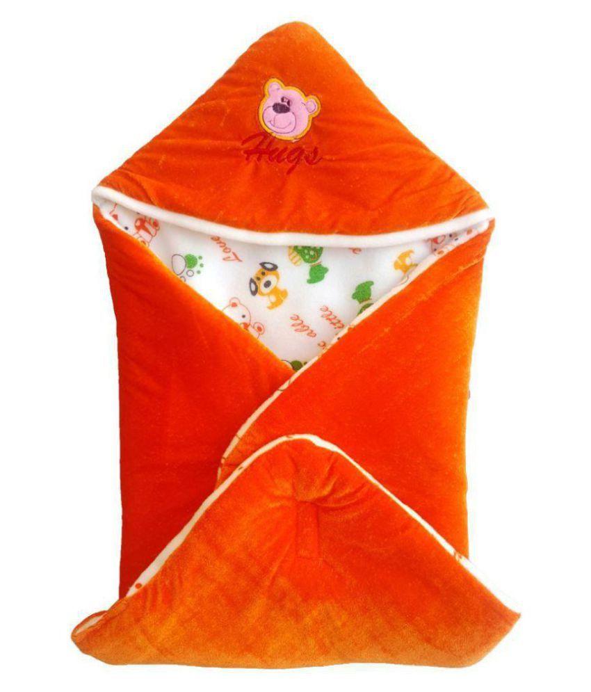 BRANDONN Orange Fleece Sleeping Bags ( 66 cm × 66 cm)