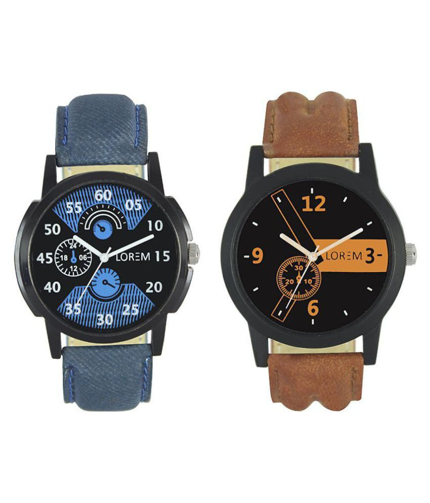95966ce04d Buy 1 Get 1 Free Blue+ Brown Watch combo For Men - Pack of - 2 - Buy Buy 1  Get 1 Free Blue+ Brown Watch combo For Men - Pack of - 2 Online at Best  Prices in ...