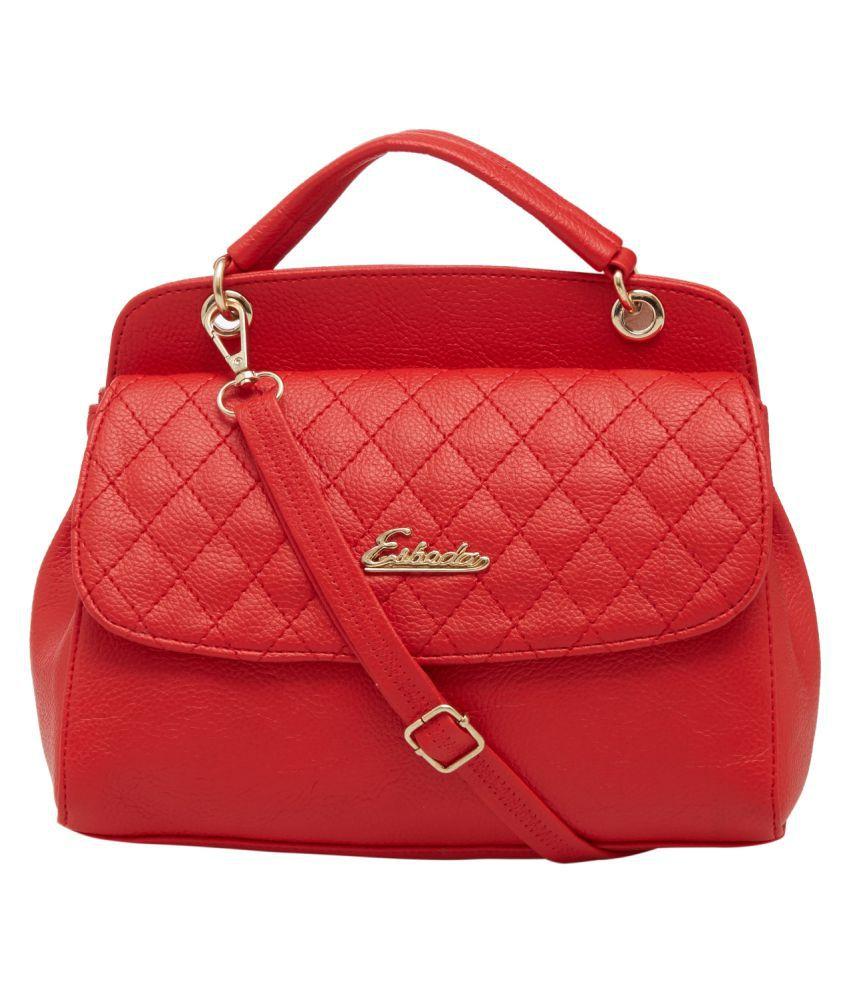 ESBEDA Red P.U. Shoulder Bag