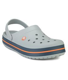 Crocs Crocband Gray Floater Sandals