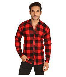 MESH Red Casual Regular Fit Shirt