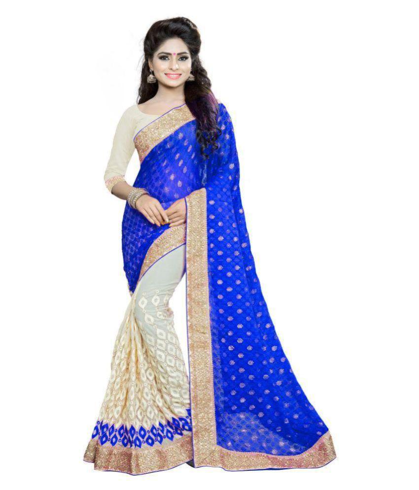 Aashvi Creation Embroidered Self Design Fashion Brasso Georgette Saree Buy Aashvi Creation