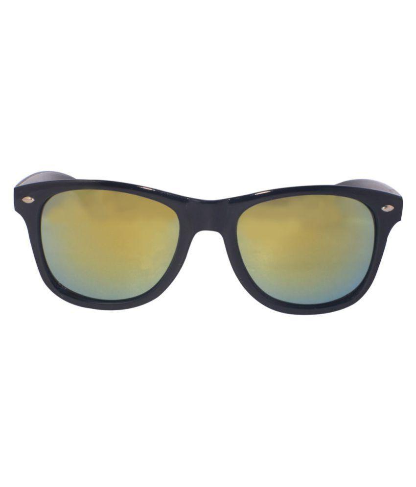 Hipe Golden Wayfarer Sunglasses ( 9024 )