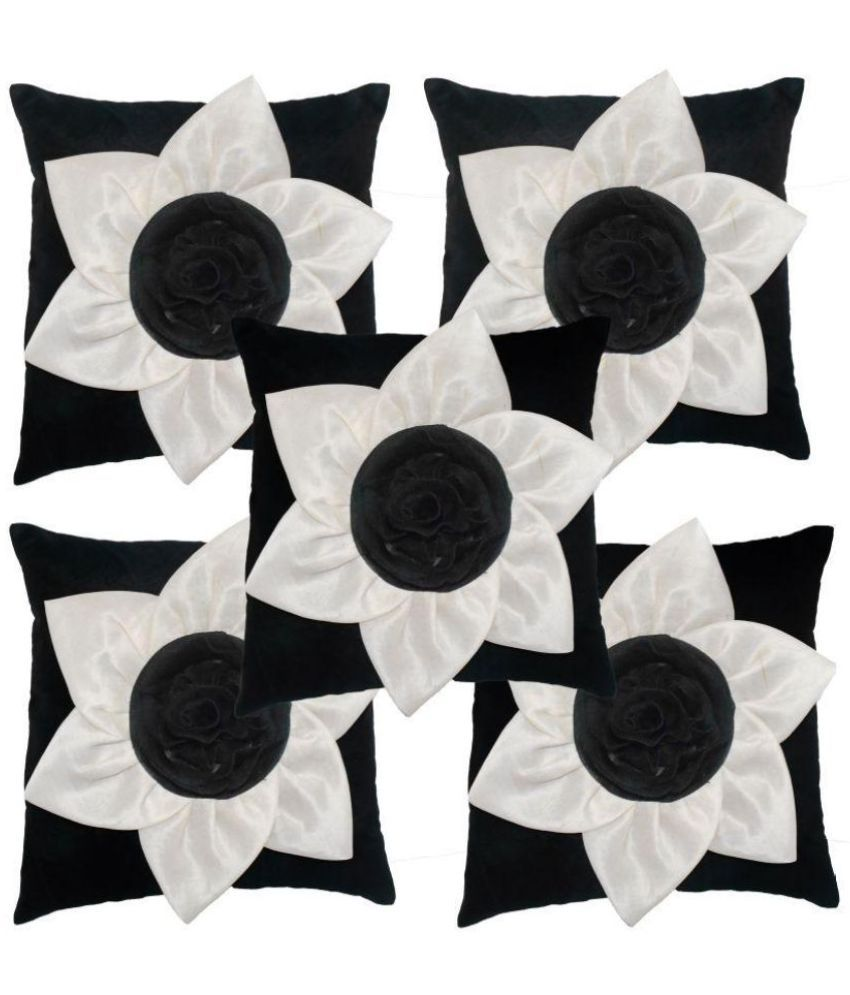 K.s.craft Set of 5 Polyester Cushion Covers 40X40 cm (16X16)