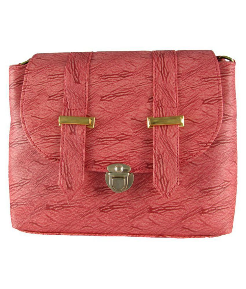 MTE Pink Non Leather Sling Bag
