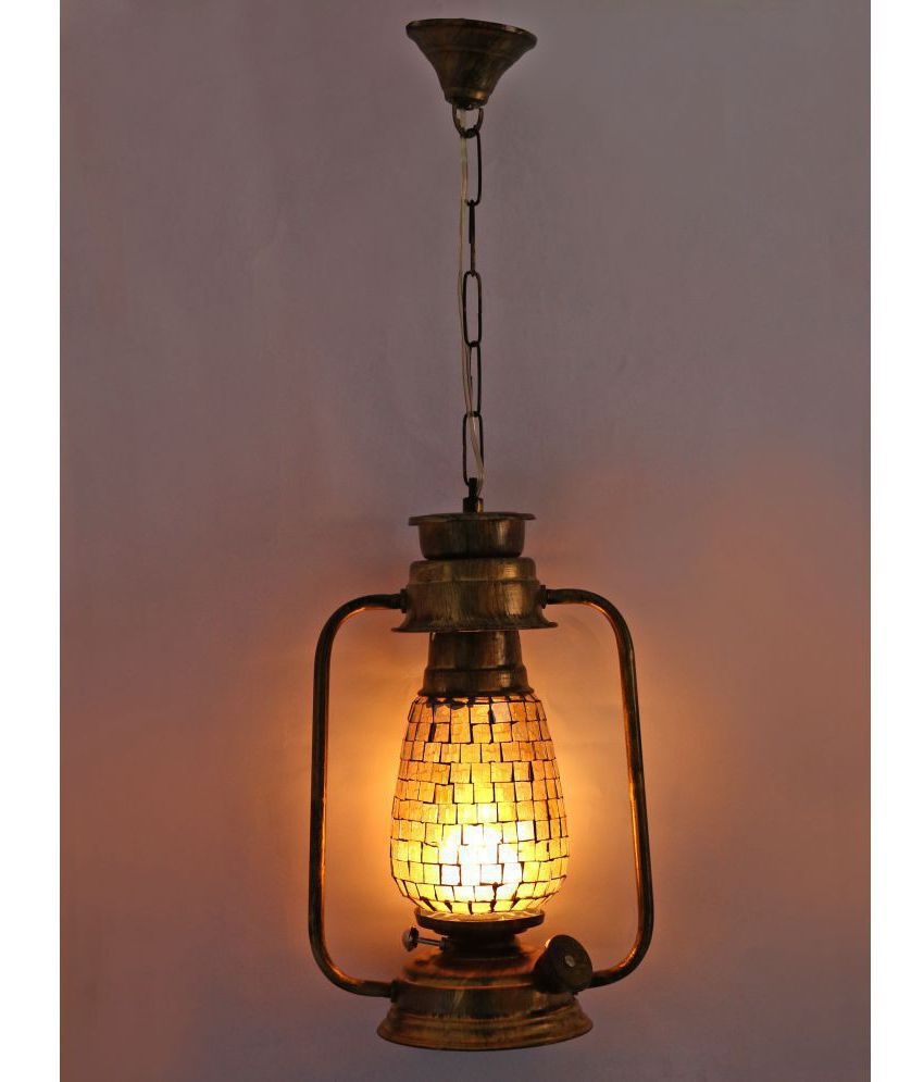 AFAST Antique Hanging Lantern Lamp Light With Colorful Glass Perfect Match Of Trading And Traditional A7 Hanging Lanterns 61 - Pack of 1