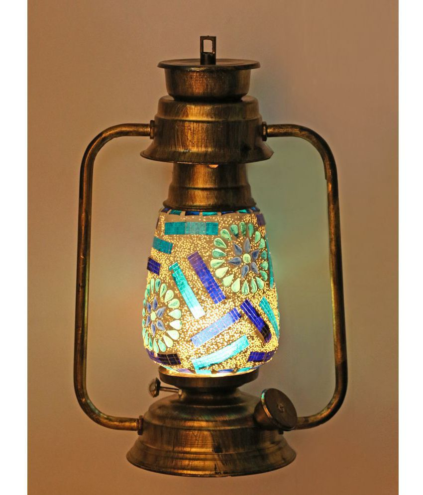 Afast Wall Mount Lantern With Glass Hand Decorated With Colorful Articles For Special Lighting Effects A4 Floor Lanterns 31 - Pack of 1