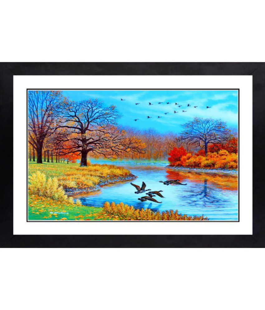 CRAFTSFEST BEAUTIFULL SCENARY MDF Painting With Frame