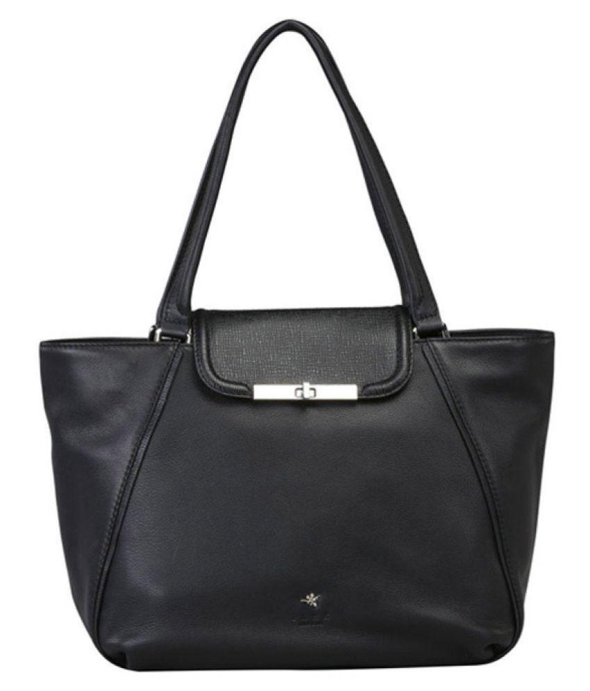 ILEX London Black Pure Leather Shoulder Bag