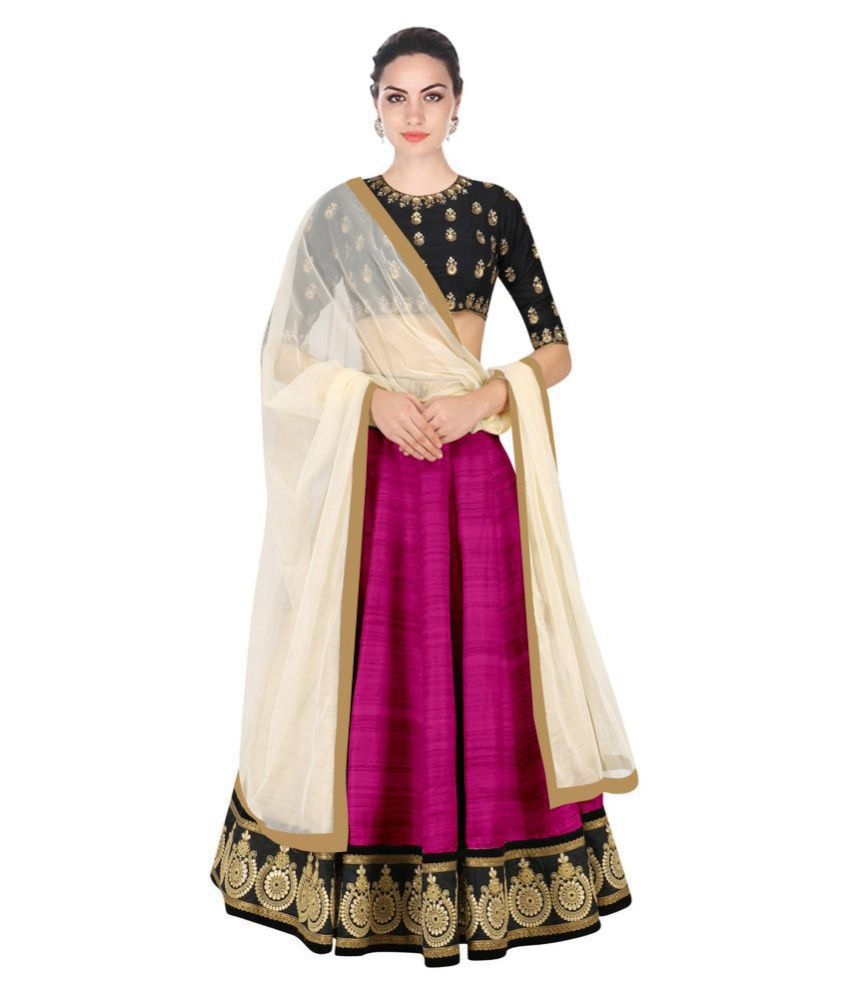 55e07b9a408 Khwaab Enterprise Purple Net Unstitched Semi Stitched Lehenga - Buy Khwaab  Enterprise Purple Net Unstitched Semi Stitched Lehenga Online at Best Prices  in ...