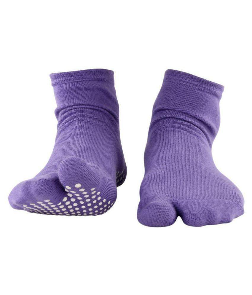 Nofall Women's Purple  Split Toe Socks Set of 5
