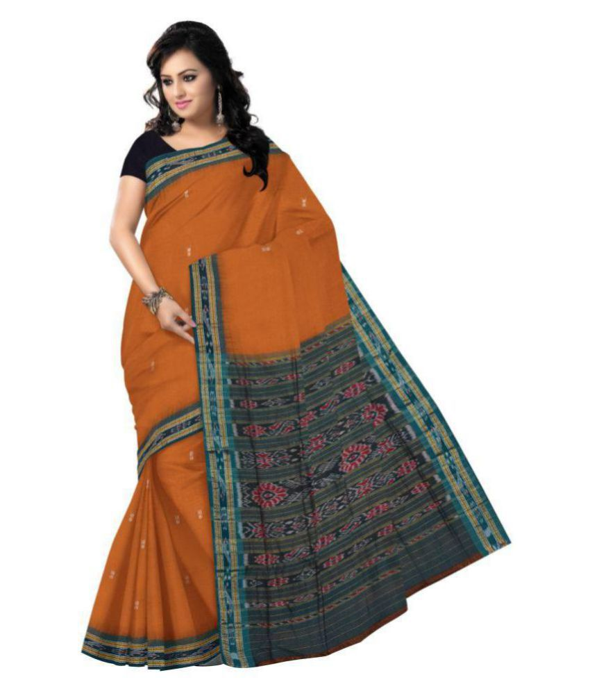 Odisha Saree Store Brown Cotton Saree