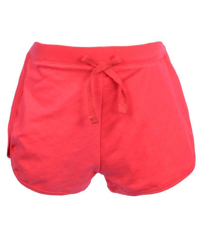 Teens Culture Girls Solid Fushia Shorts with Bow