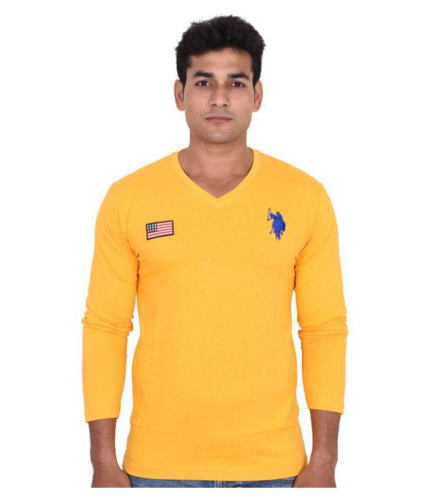U.S. Polo Assn. Yellow V-Neck T-Shirt