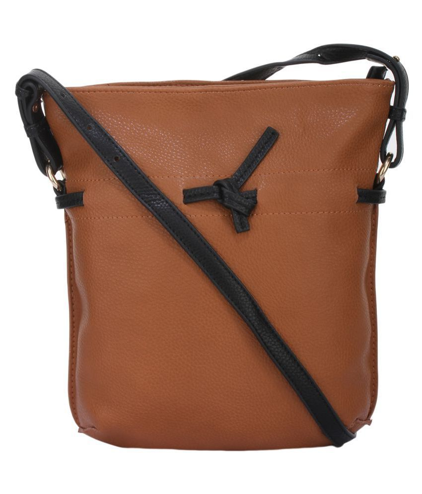 Alvaro Castagnino Brown P.U. Sling Bag
