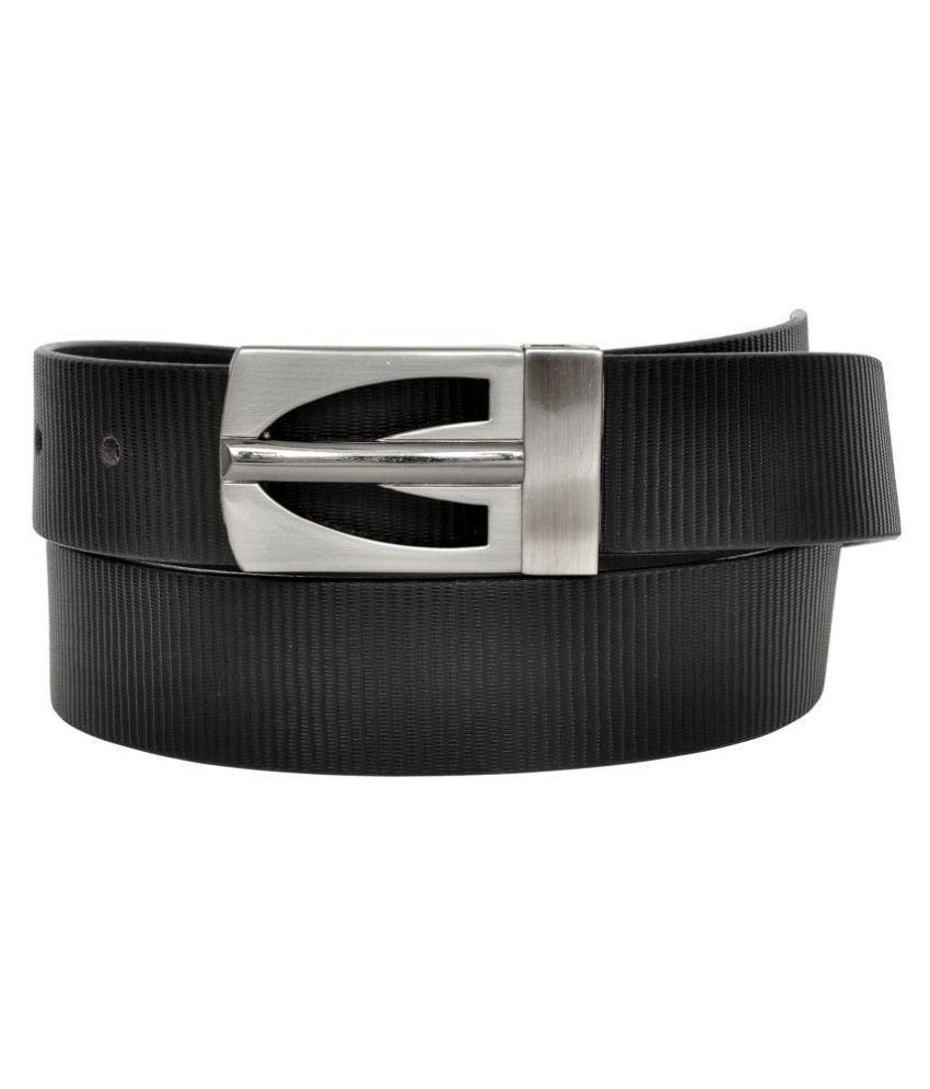 Chandair Black Leather Formal Belts