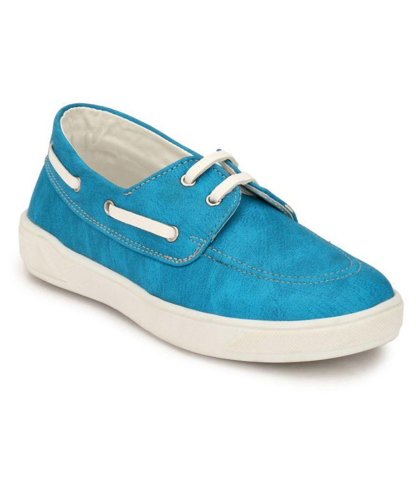 Hirels Sky Blue Kids Derby Sneakers