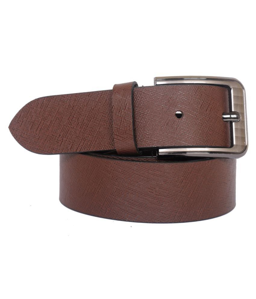 Naysa Black Leather Casual Belts