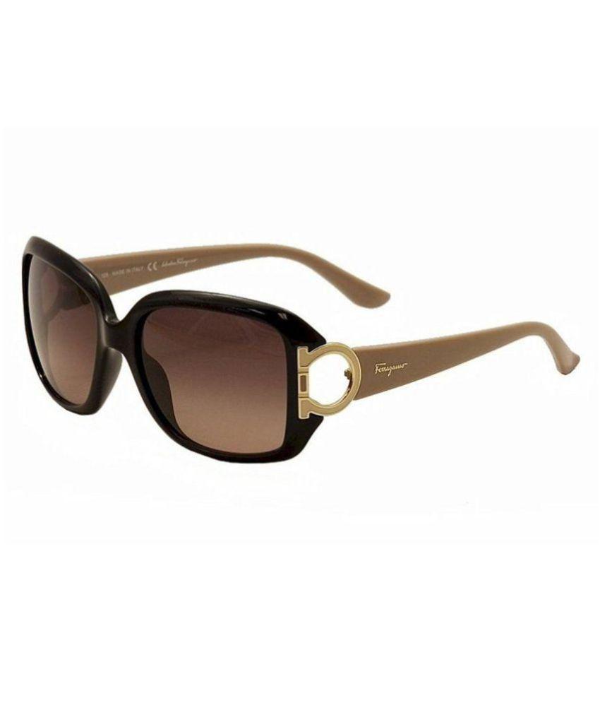 Salvatore Ferragamo S.p.A. Brown Square Sunglasses ( SF666 001 55 S )