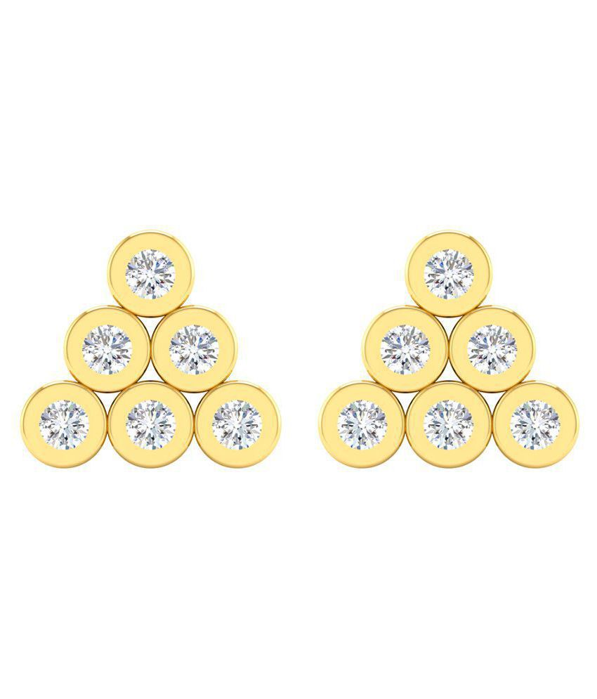 Cygnus 18k BIS Hallmarked Yellow Gold Diamond Studs