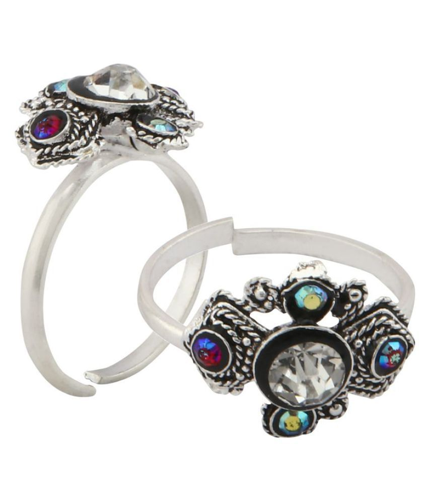 Urbanela Designer Silver Plated Toe Ring fashion Jewellery (Pack of 1 pair)#TR8