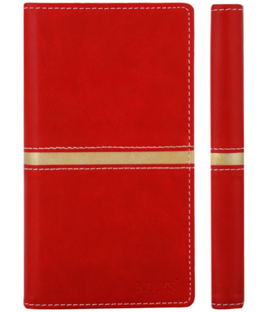 Micromax Canvas 3 A115 Flip Cover by shopme - Red