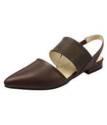 Heels & Shoes Brown Flats